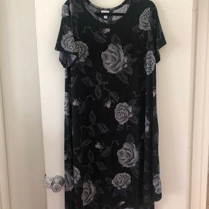 Lularoe High Low Carly Dress - Pixel Roses